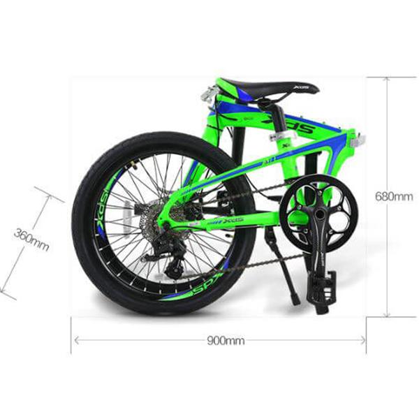 Kích thước sau khi gấp gọn xe đạp galaxy K3