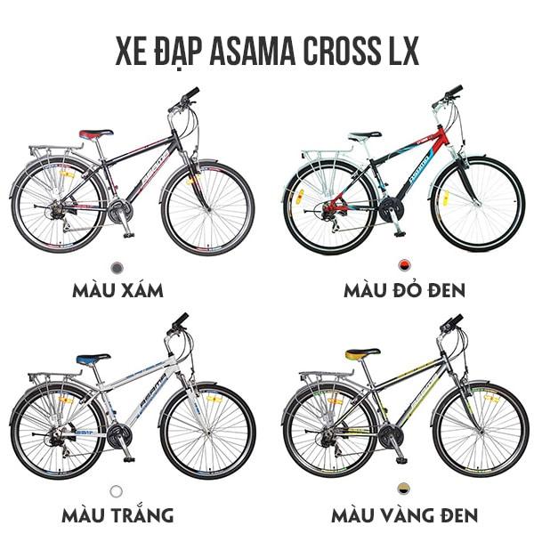 Màu sắc xe đạp asama cross lx