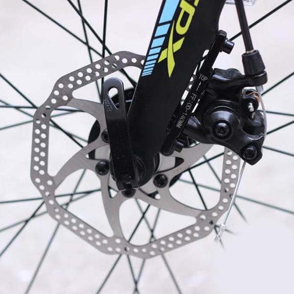 Hệ thống phanh đĩa cơ xe đạp gấp galaxy K3