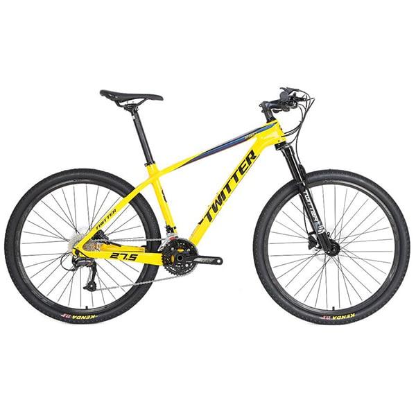 xe đạp địa hình twitter leopard pro màu vàng chanh