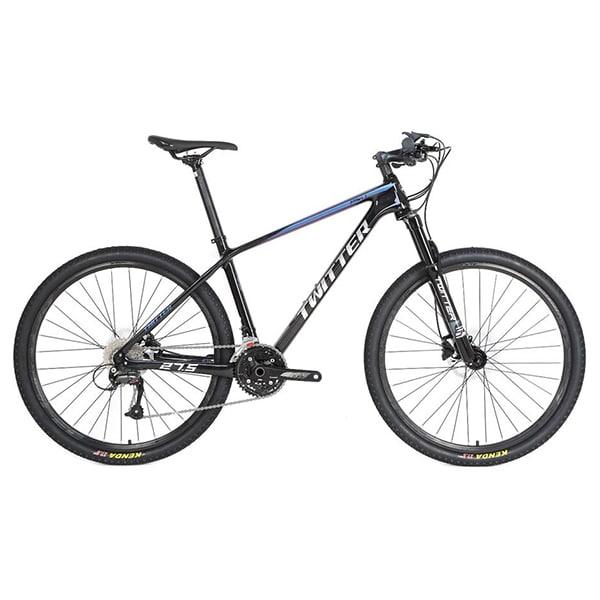 xe đạp twitter leopard pro màu xanh trắng đen