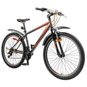 xe đạp asama mtb 2604 màu cam đen chụp nghiêng