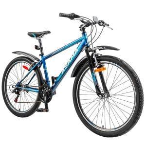 xe đạp asama mtb 2604 màu xanh đen chụp nghiêng