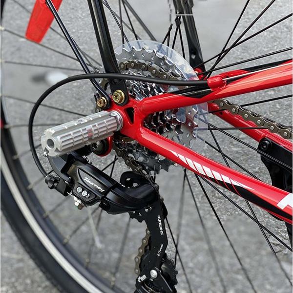 hệ thống sang số sau và giá để chân trên xe đạp asama trk fl2602