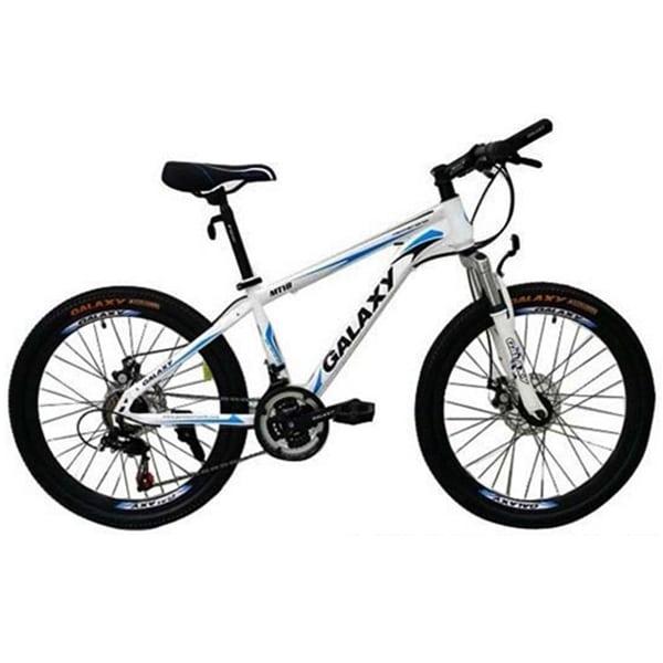 Xe đạp galaxy mt18 màu trắng xanh