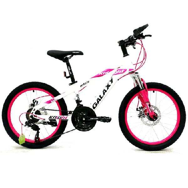 Xe đạp trẻ em galaxy mt228 màu trắng hồng