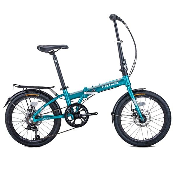 Xe đạp gấp trinx life 2.0 màu xanh dương