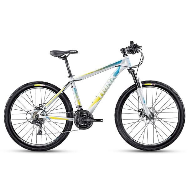 Xe đạp trinx m116 màu trắng xanh