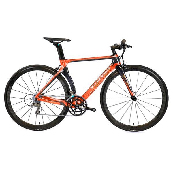 Xe đạp twitter t10 pro tay ngang màu cam