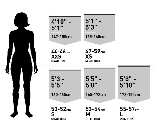 Cách chọn size xe đạp đua cho nữ