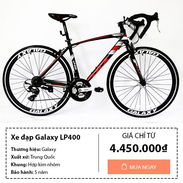 Xe đạp đua galaxy lp400 màu đen đỏ