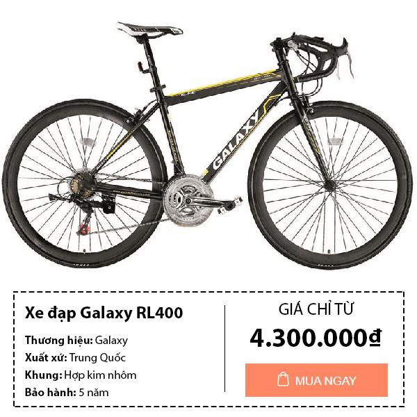 Xe đạp đua galaxy RL400 màu đen vàng