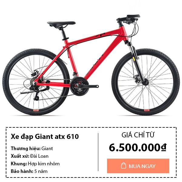 Xe đạp thể thao giant atx 610 màu đỏ
