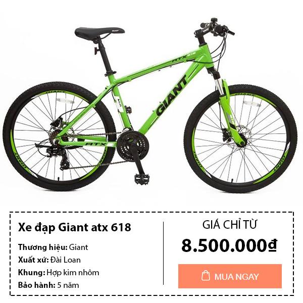 Thông tin mua sản phẩm xe đạp thể thao giant atx 618