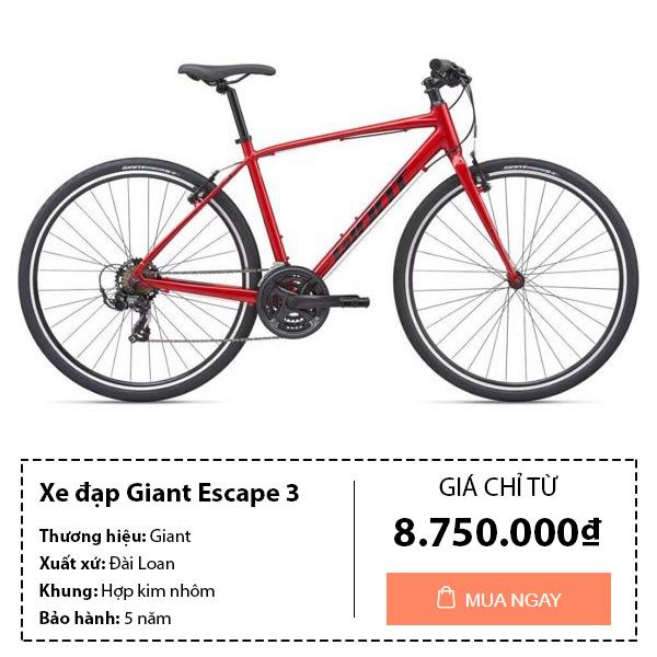 Thông tin mua xe đạp thể thao giant escape 3