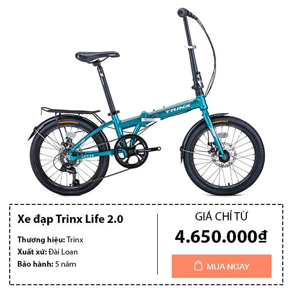 Xe đạp gấp trinx trẻ em life 2.0