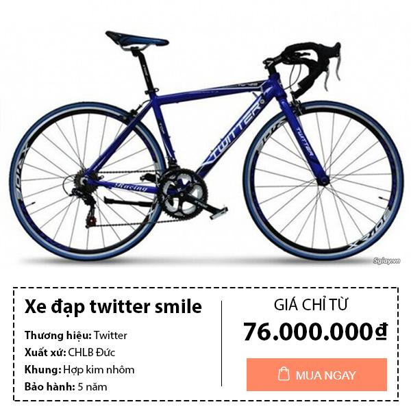 Xe đạp đua twitter smile
