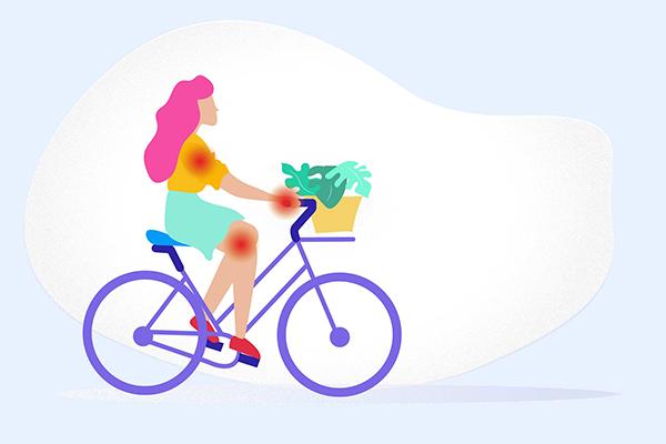 Người có bệnh về xương khớp người gia cũng không nên đạp xe hàng ngày